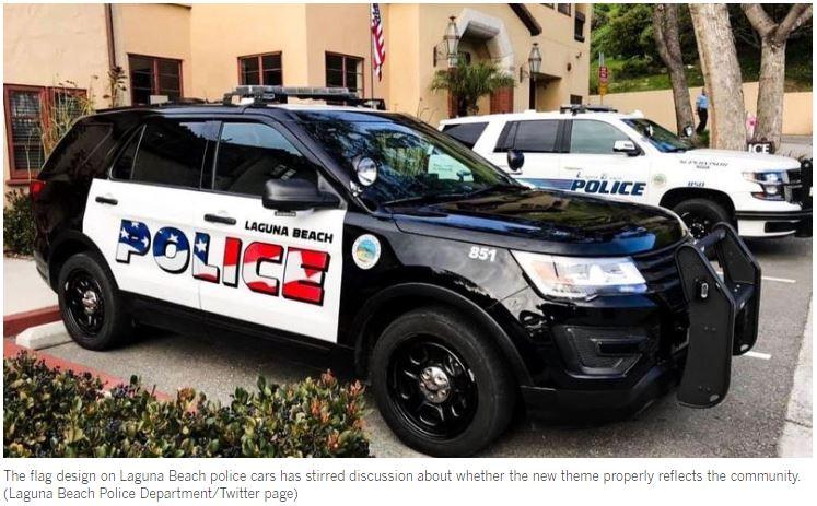 American Flags On Laguna Beach Police Cars Spark Backlash
